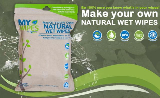 Șervețele 100% naturale, neparfumate umede-uscate My Wipes by Potette Plus 3