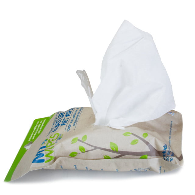 Șervețele 100% naturale, neparfumate umede-uscate My Wipes by Potette Plus 7