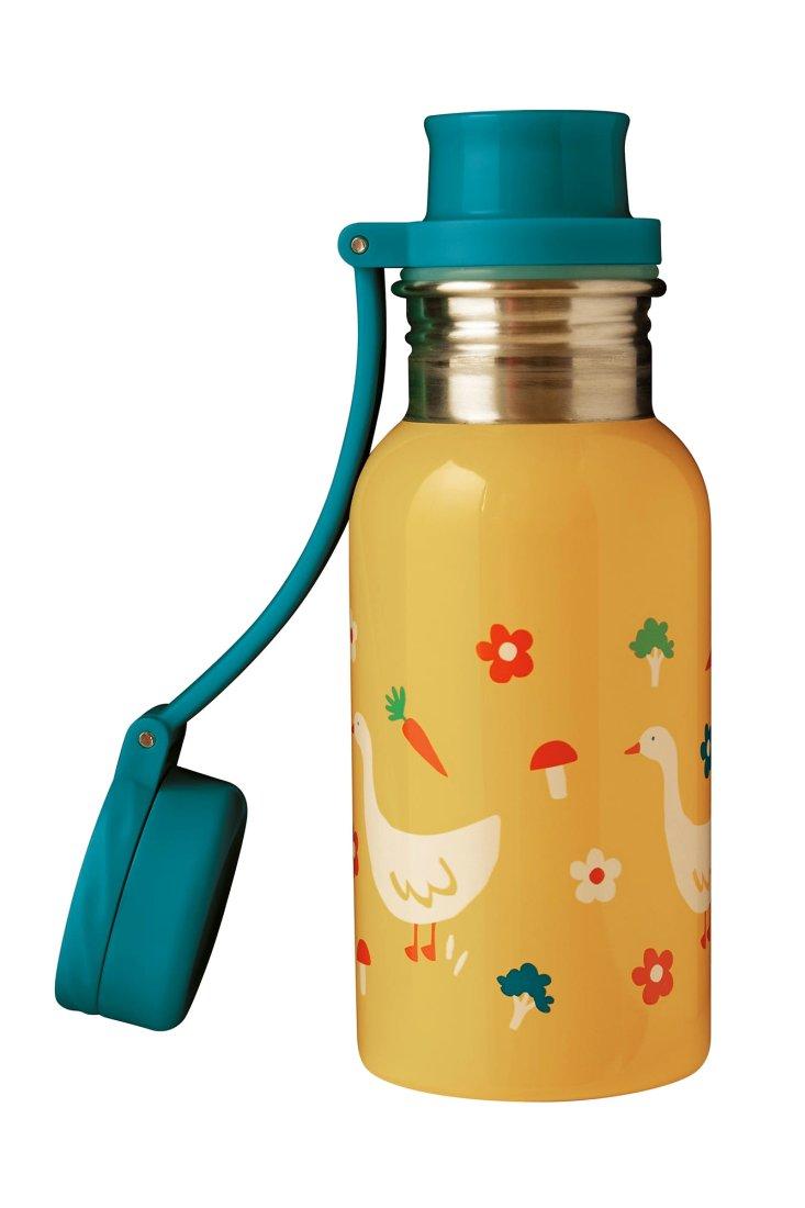 Recipient Sticlă inox Bumblebee/Duck Splish Splash 400ml Frugi
