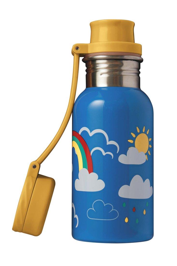 Recipient Sticlă inox Rainbow Skies Splish Splash 400ml Frugi