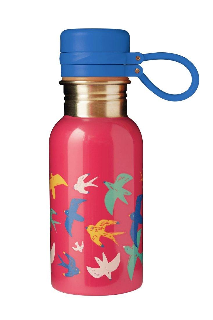 Recipient Sticlă inox Watermelon/ Bird Splish Splash 400ml Frugi