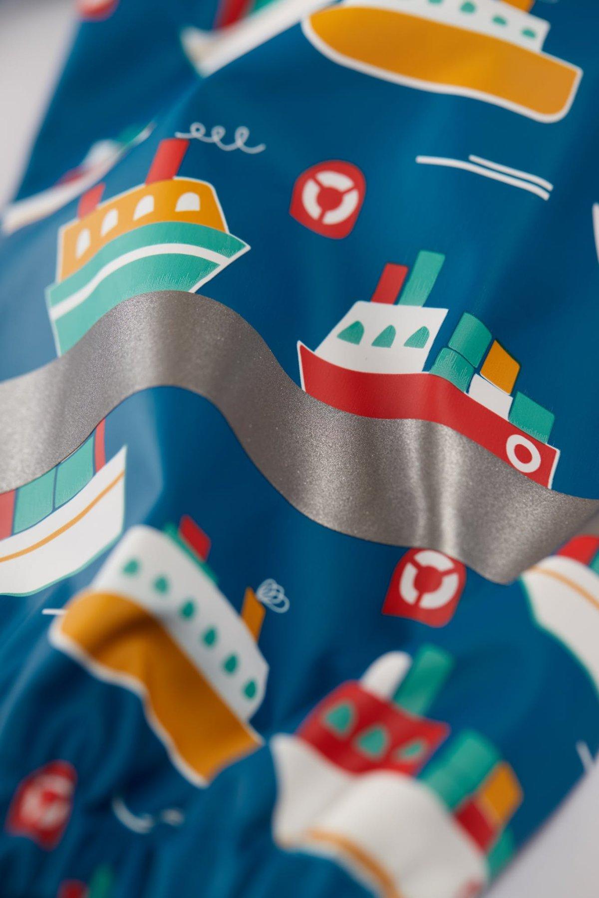 Geacă impermeabilă de ploaie căptușită cu fleece Sail The Seas Puddle Buster Frugi
