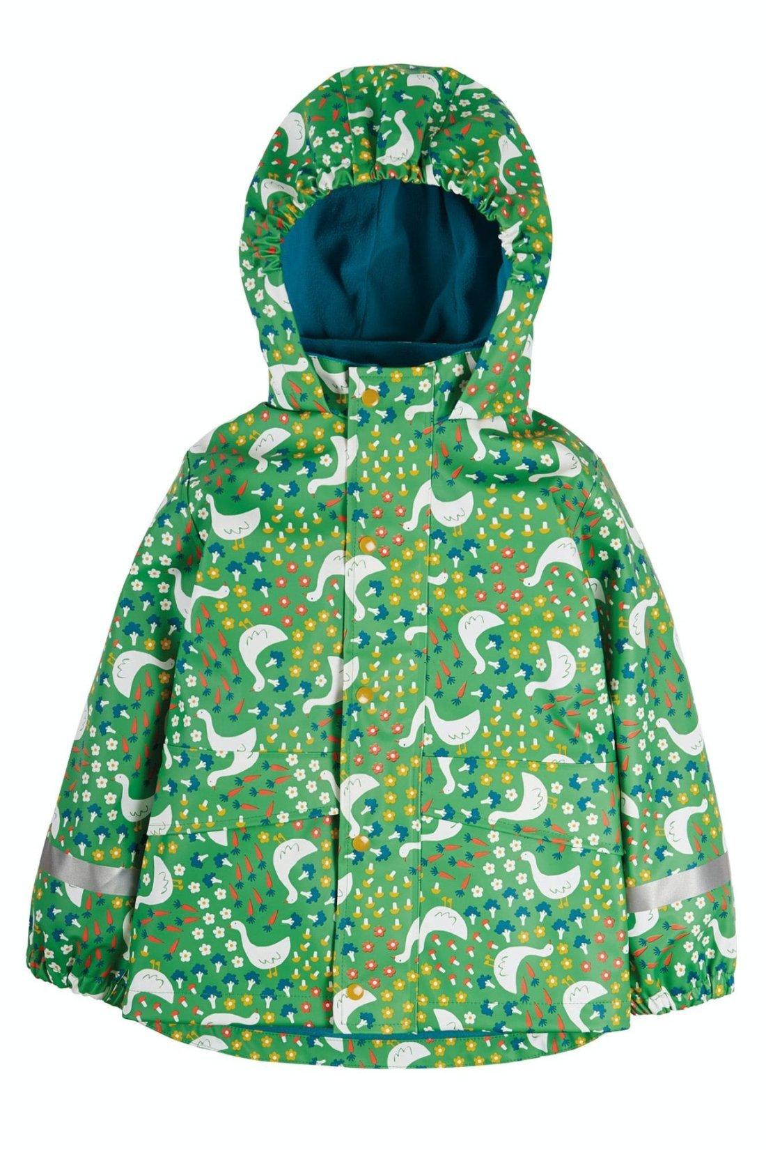 Geacă impermeabilă de ploaie căptușită cu fleece Springtime Geese Puddle Buster Frugi