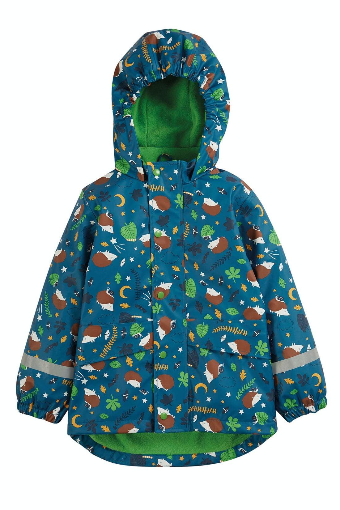 Geacă impermeabilă de ploaie căptușită cu fleece National Trust Puddle Buster Frugi