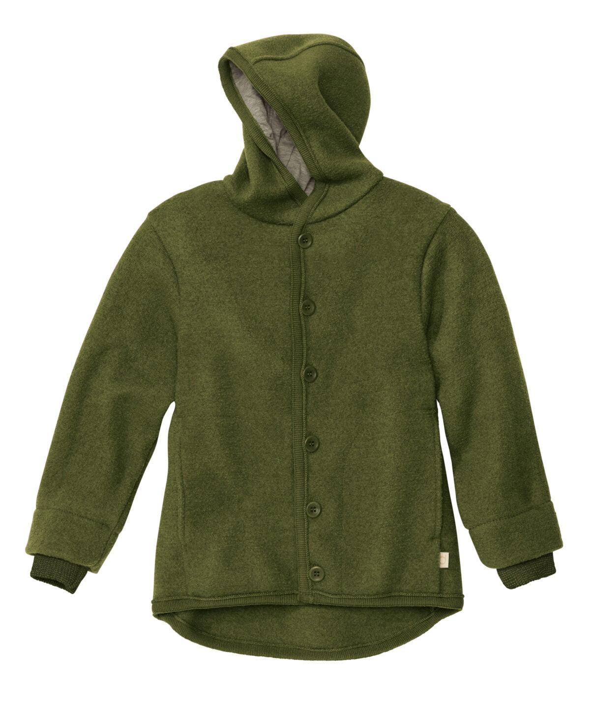 Jachetă Disana din lână merinos boiled wool Olive
