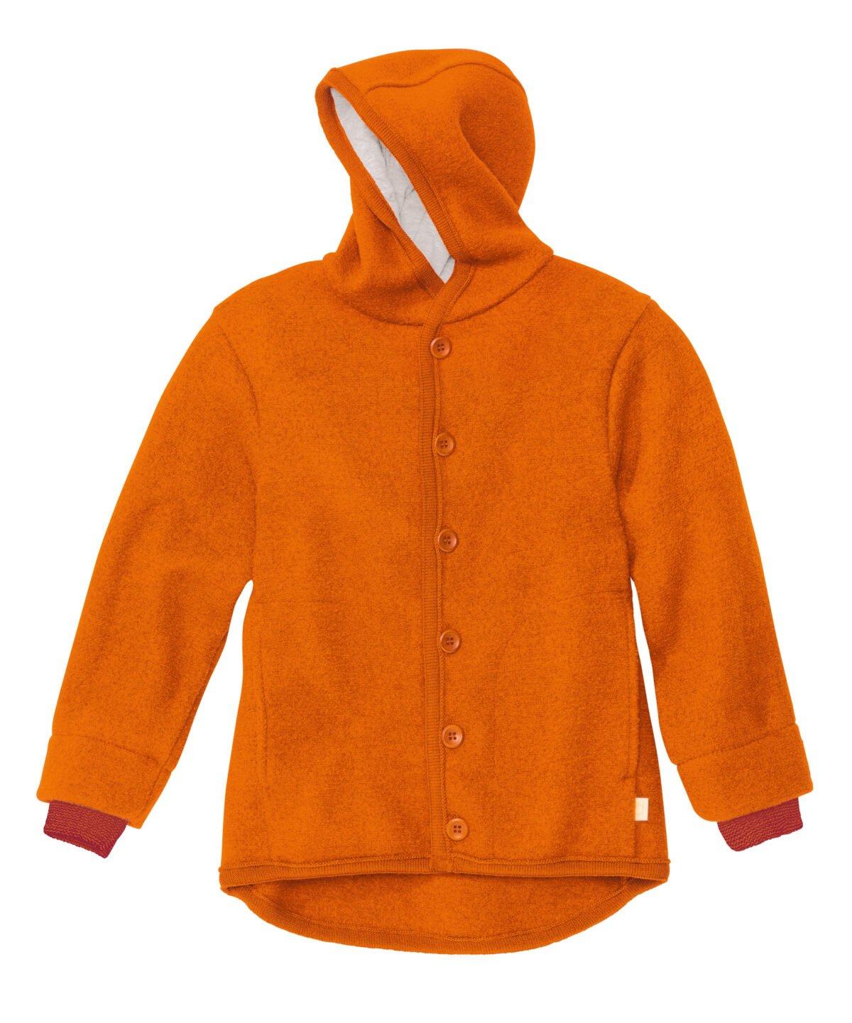 Jachetă Disana din lână merinos boiled wool Orange