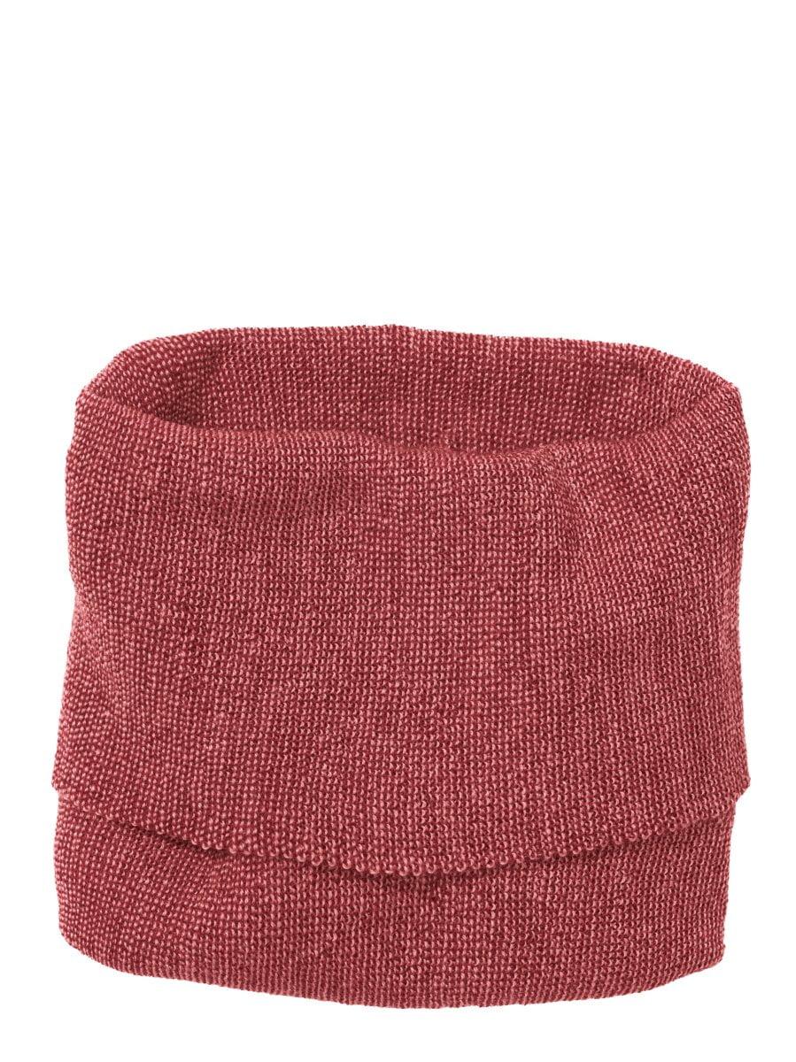 Buff fular circular Disana din lână merinos pentru copii Bordeaux/ Rose