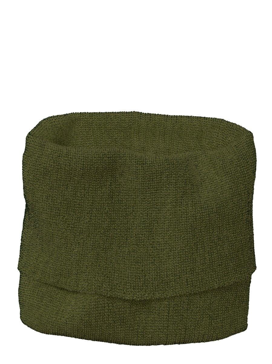 Buff fular circular Disana din lână merinos pentru copii Olive/Anthracite
