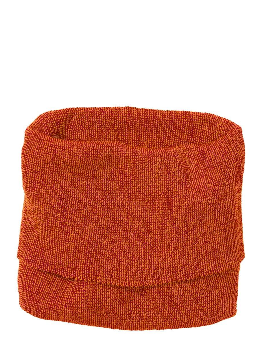 Buff fular circular Disana din lână merinos pentru adulți Orange/Bordeaux