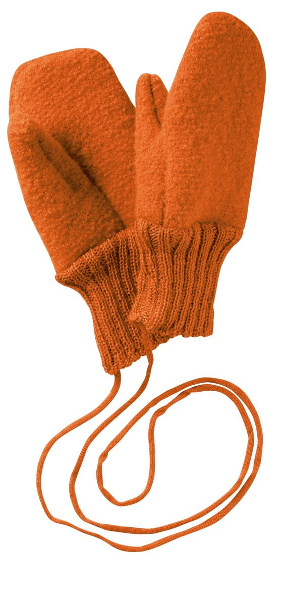 Mănuşi Disana din lână merinos boiled wool Orange
