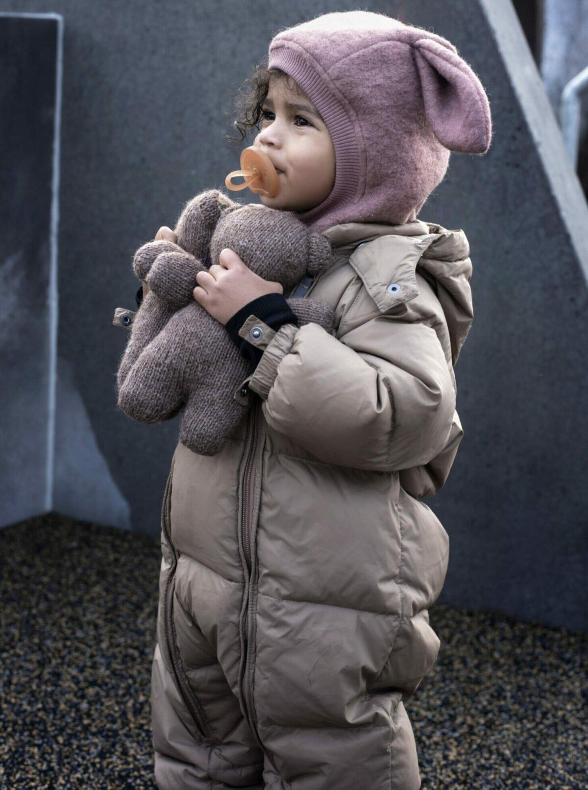 Cagulă dublată din lână merinos boiled wool Bunny Heather HUTTELiHUT 1