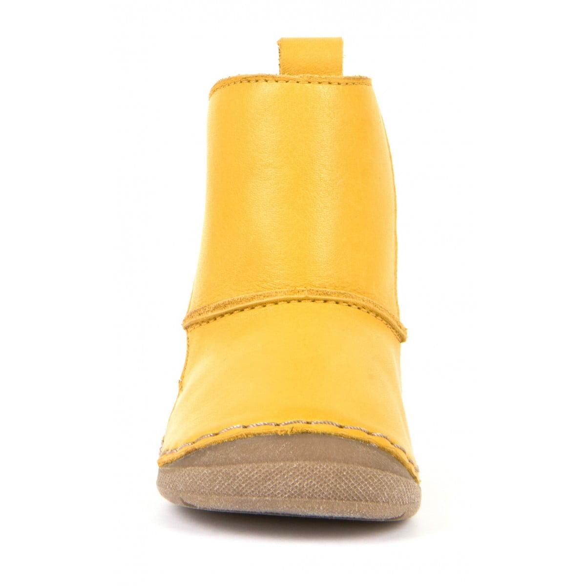 Cizme din piele căptuşite cu blană de miel şi închidere laterală cu velcro şi talpă extra flexibilă Froddo Yellow 2