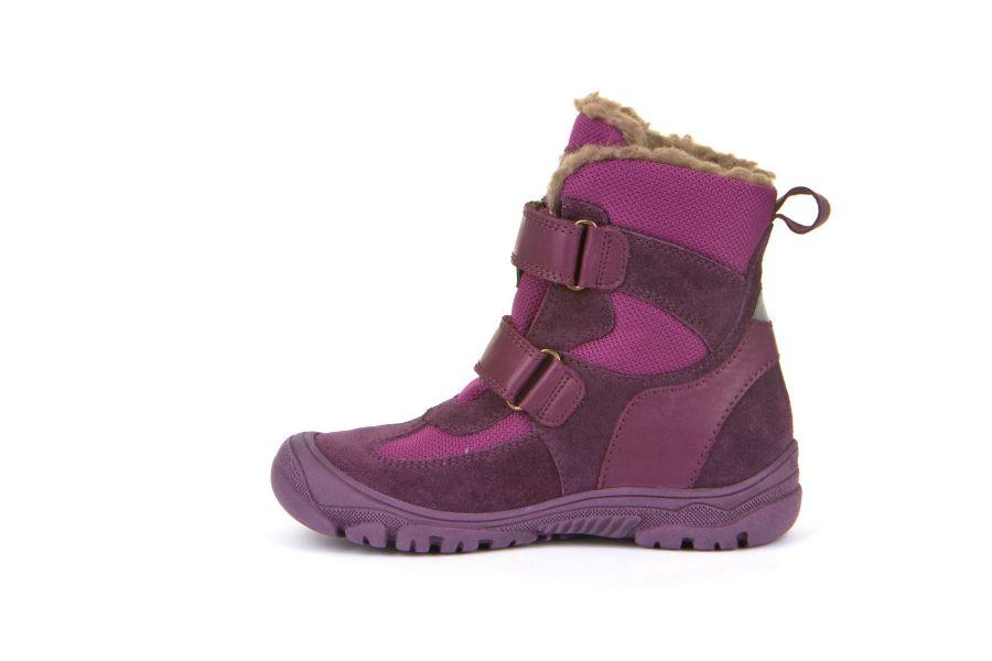Cizme impermeabile din piele şi material textil căptuşite cu lână naturală şi talpă flexibilă Froddo Purple 3