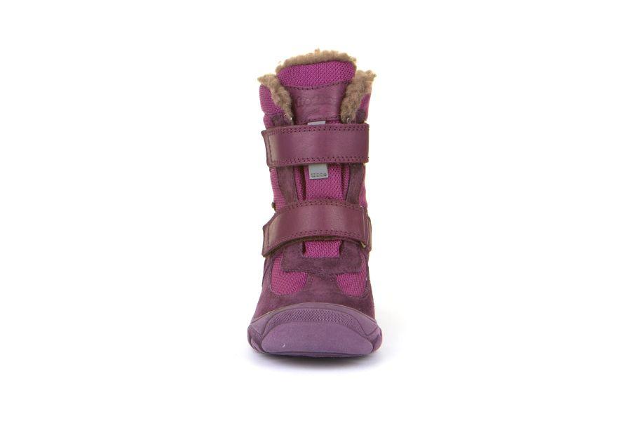 Cizme impermeabile din piele şi material textil căptuşite cu lână naturală şi talpă flexibilă Froddo Purple 4