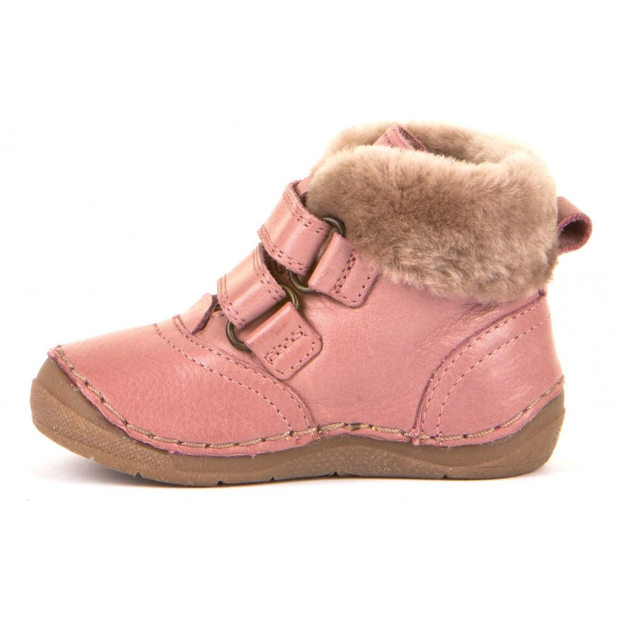 Ghete din piele căptuşite cu blană de miel şi talpă flexibilă pink Froddo 1