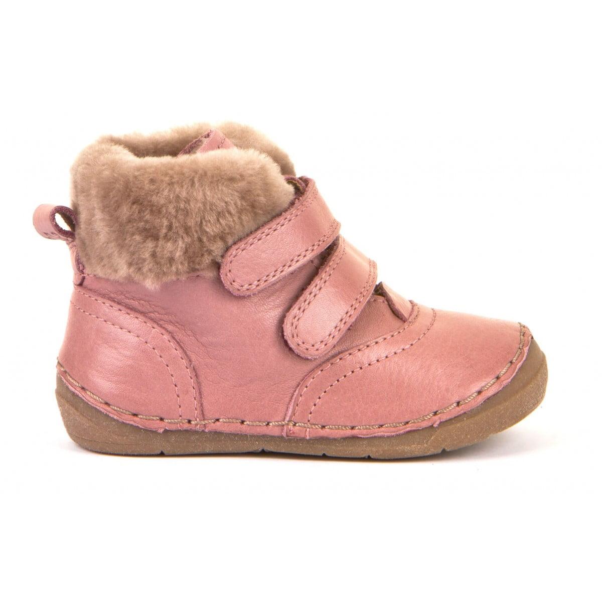 Ghete din piele căptuşite cu blană de miel şi talpă flexibilă pink Froddo 2