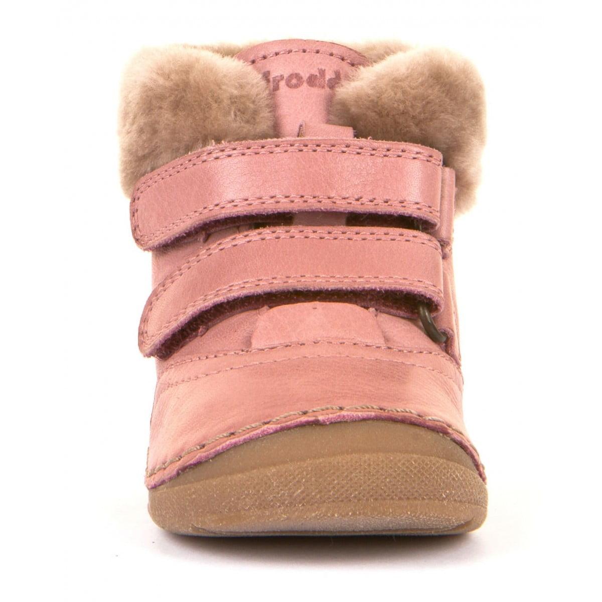 Ghete din piele căptuşite cu blană de miel şi talpă flexibilă pink Froddo 3