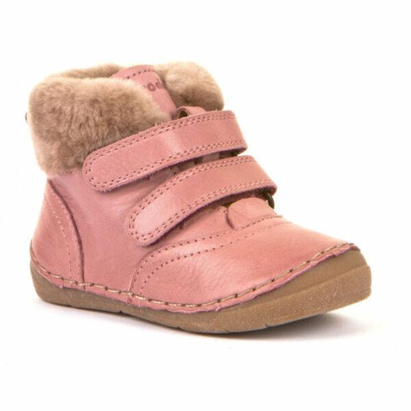 Ghete din piele căptuşite cu blană de miel şi talpă flexibilă pink Froddo