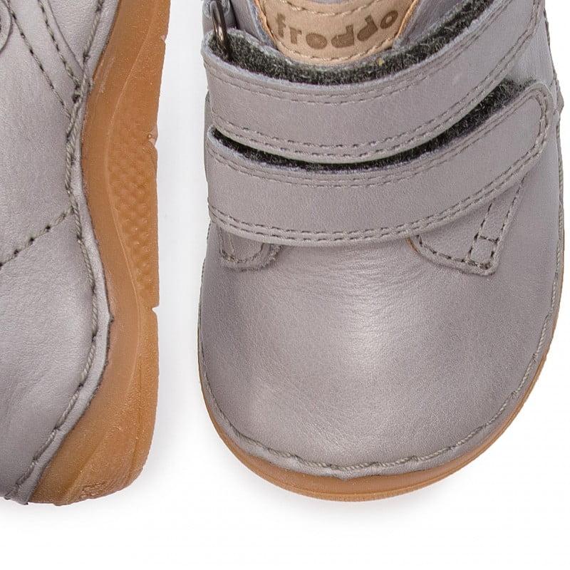 Ghete din piele cu talpă extra flexibilă Grey Froddo 1