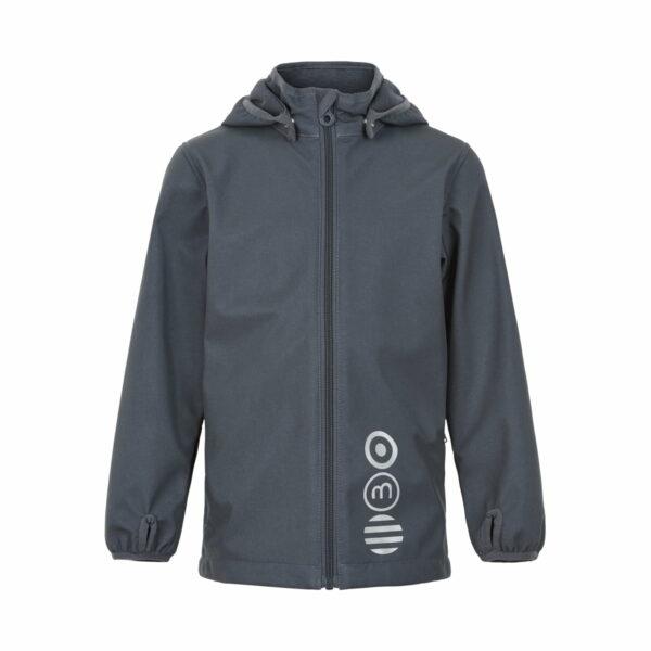 Jachetă de ploaie și vânt (impermeabilă) din softshell căptușită integral cu fleece India Ink Minymo