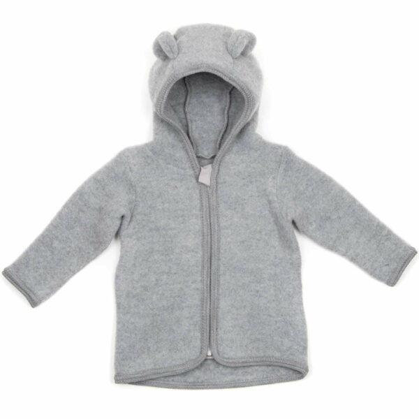 Jachetă din lână fleece Jackie Light Grey HUTTEliHUT