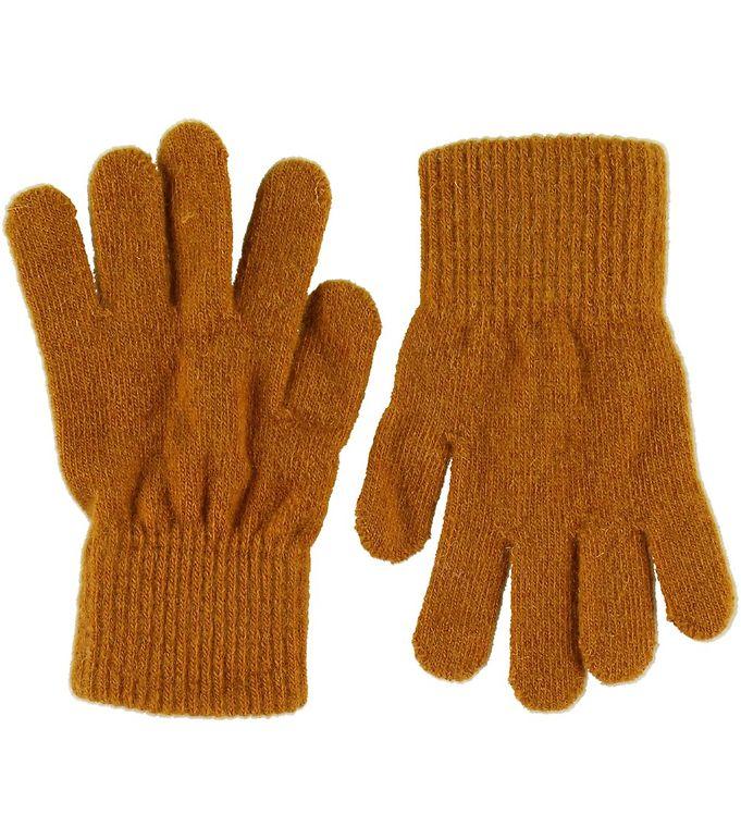 Mănuși cu degete din lână tricotată pumpkin spice CeLaVi 1
