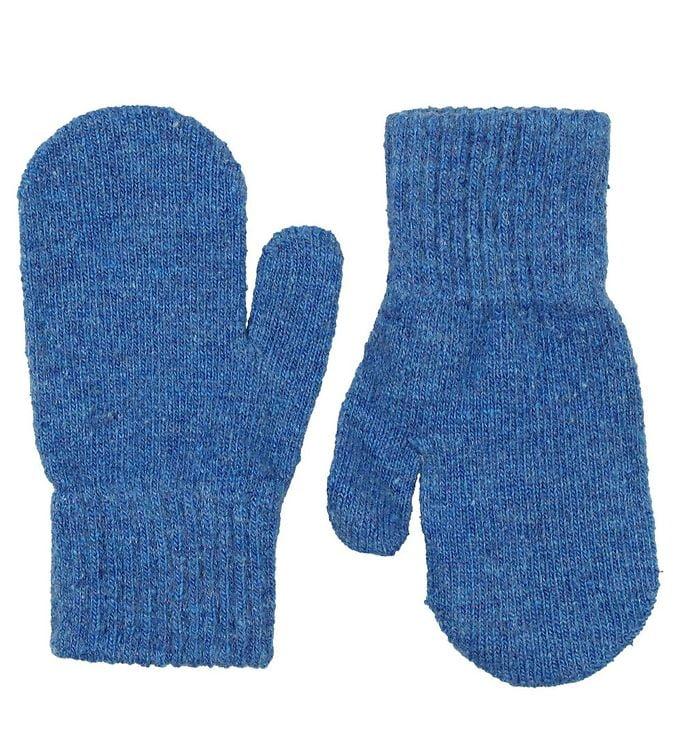 Mănuși pentru bebeluşi din lână tricotată blue CeLaVi