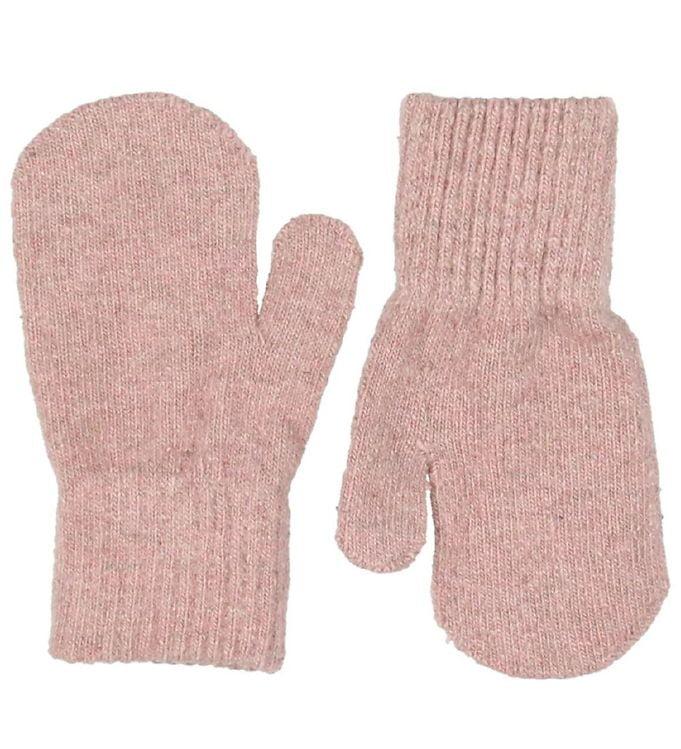 Mănuși pentru bebeluşi din lână tricotată misty rose CeLaVi