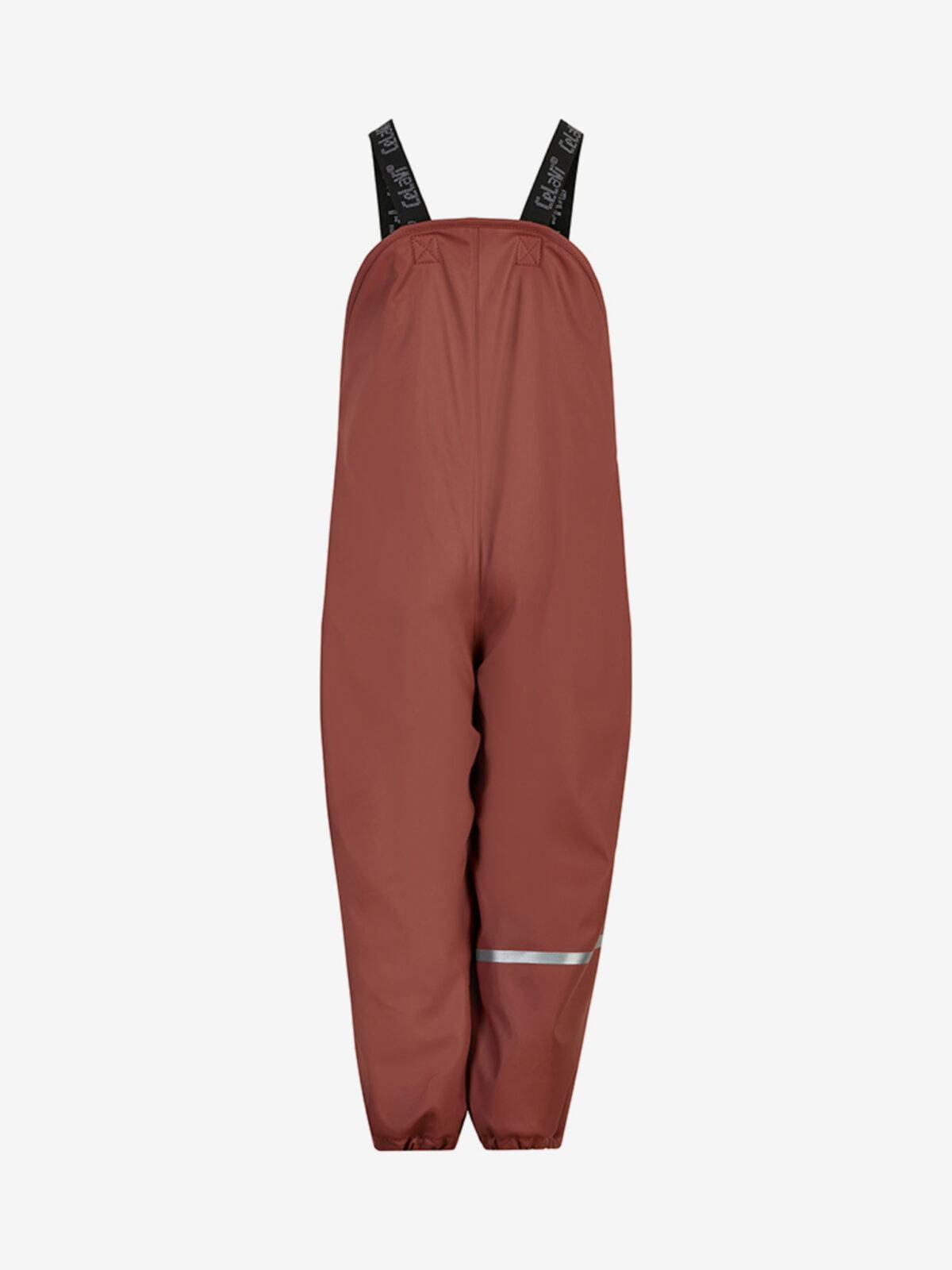 Pantaloni de ploaie și vânt căptușiți integral cu fleece mahogany CeLaVi 1Pantaloni de ploaie și vânt căptușiți integral cu fleece mahogany CeLaVi 1