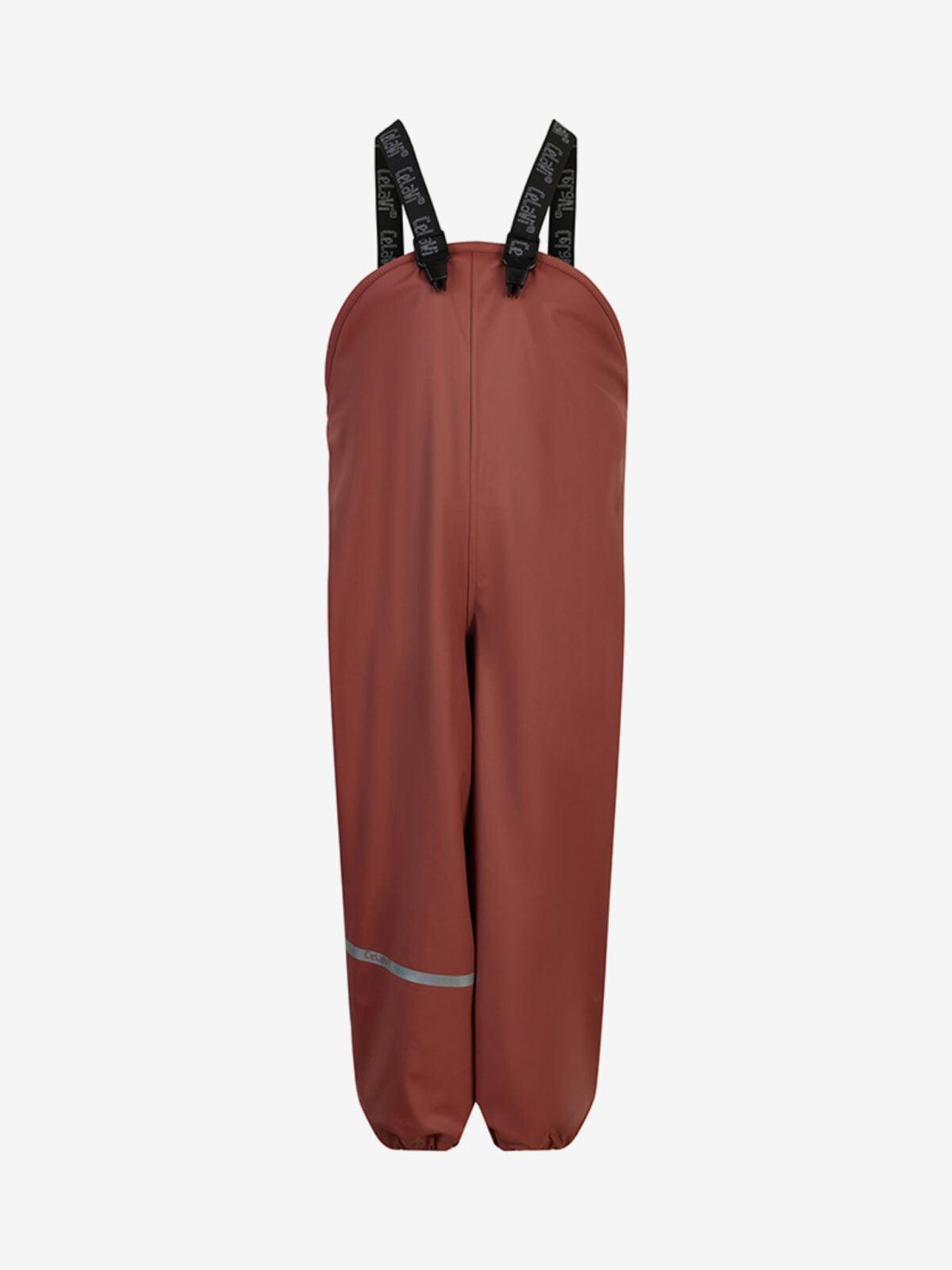 Pantaloni de ploaie și vânt căptușiți integral cu fleece mahogany CeLaVi
