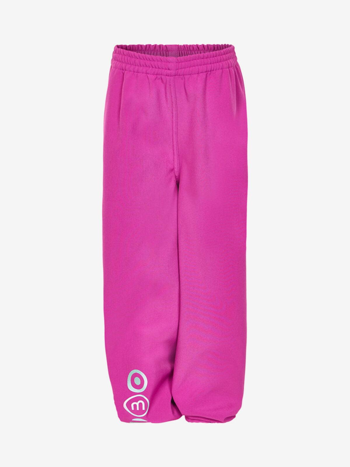 Pantaloni de ploaie și vânt (impermeabili) din softshell căptușiți integral cu fleece Dark Fuschia Minymo