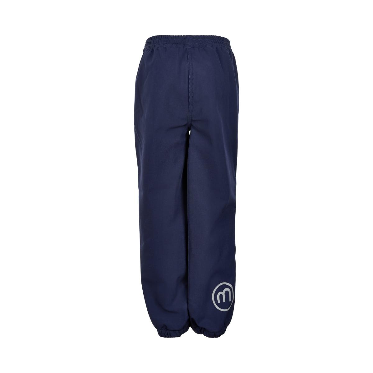 Pantaloni de ploaie și vânt (impermeabili) din softshell căptușiți integral cu fleece Navy Minymo 1