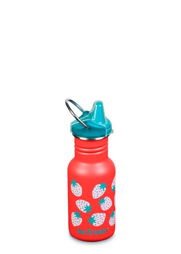 Recipient Sticlă Kid Classic cu capac Sippy Coral Strawberries 355 ml Klean Kanteen