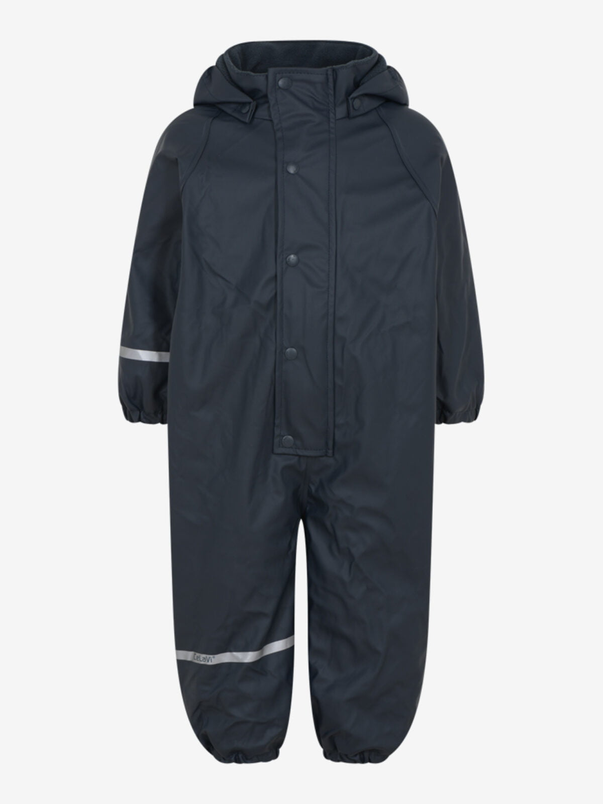 Salopetă overall ploaie și vânt (impermeabilă) căptuşită integral cu fleece navy CeLaVi