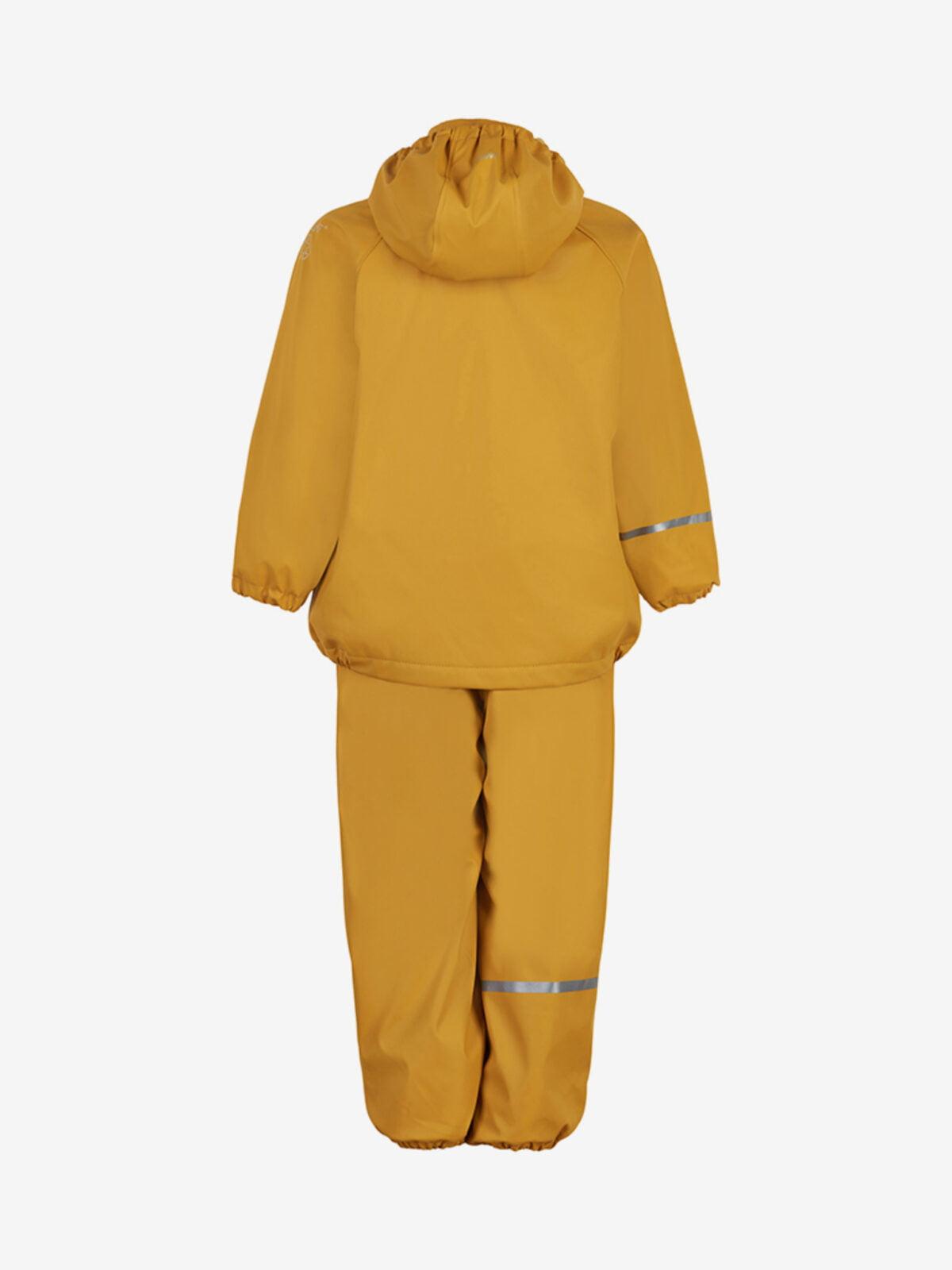 Set de ploaie și vânt (impermeabil) căptușit integral cu fleece mineral Yellow Celavi 1