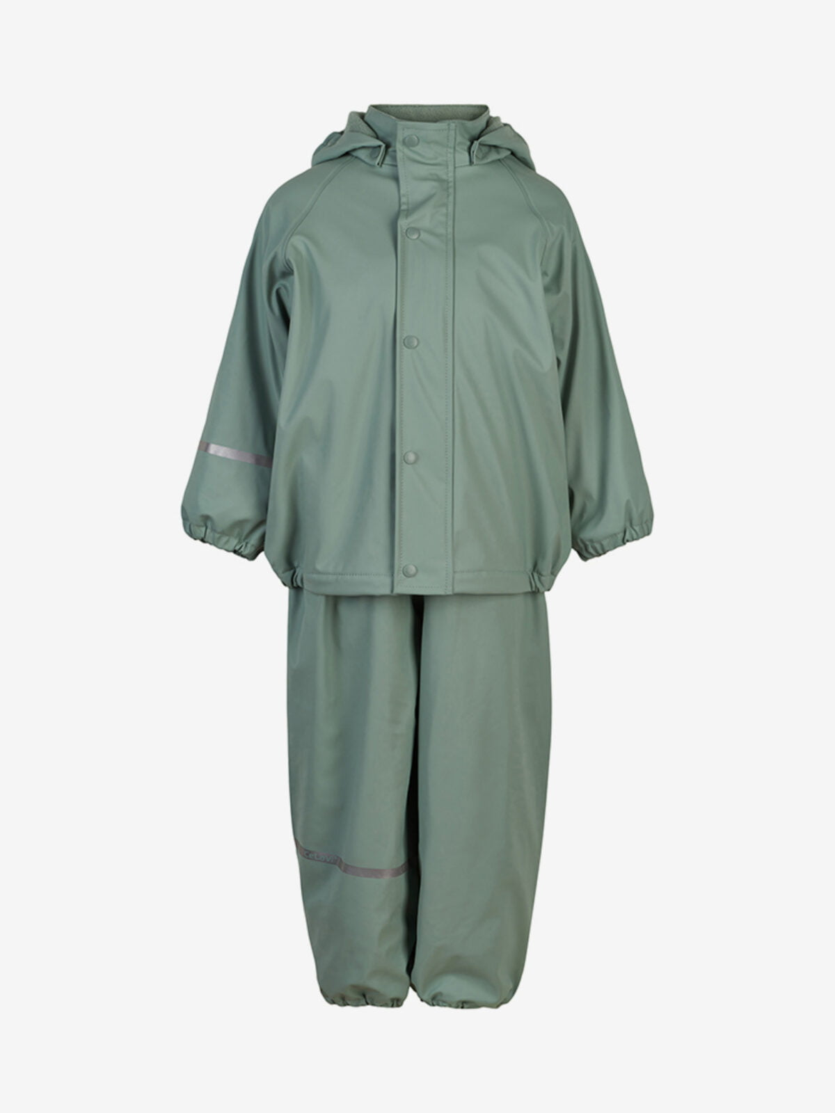 Set de ploaie și vânt (impermeabil) căptușit integral cu fleece mint Celavi