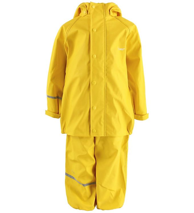Set de ploaie și vânt (impermeabil) yellow CeLavi