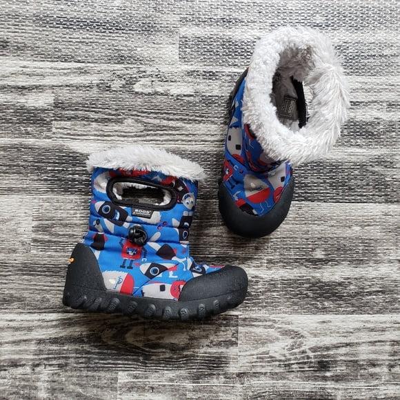 BOGS Footwear cizme de iarnă impermeabile B-MOC Monsters Blue Multi 1