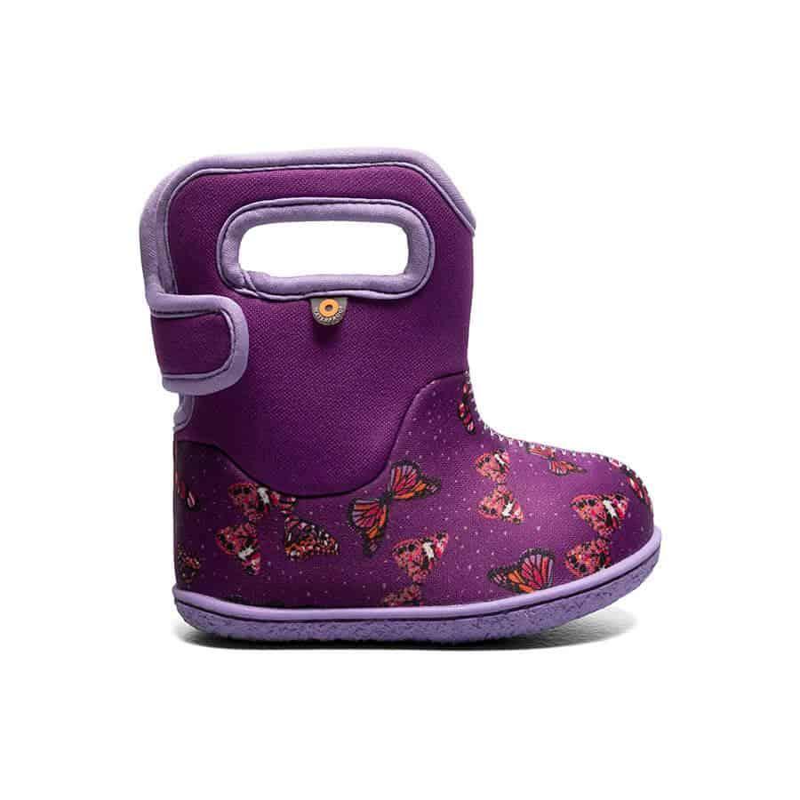 BOGS Footwear cizme de iarnă impermeabile Baby Bogs Butterfly Purple Multi 1