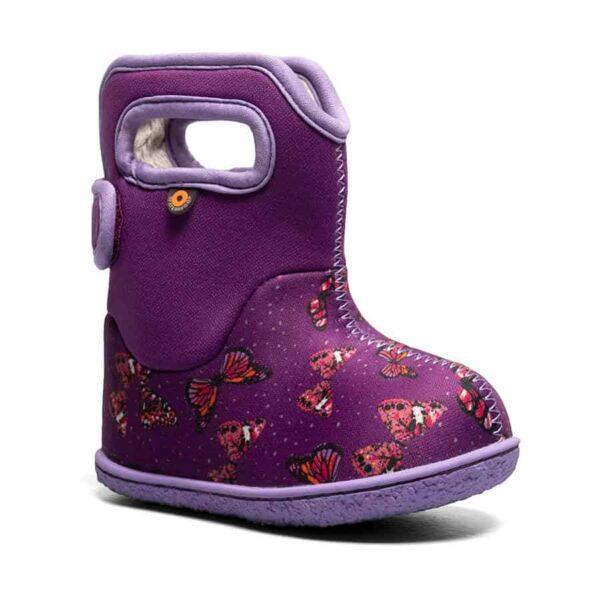BOGS Footwear cizme de iarnă impermeabile Baby Bogs Butterfly Purple Multi