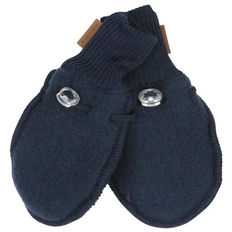Mănuși din lână merinos fleece blue nights Mikk-line